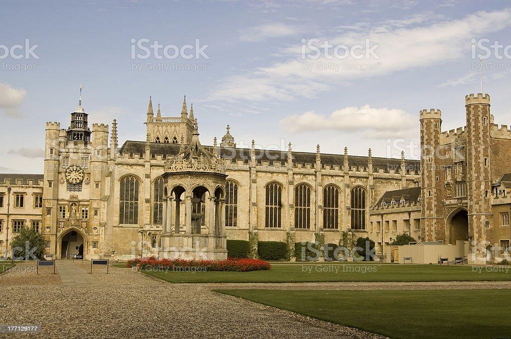 Great Court, Trinity College, Cambridge stock photo