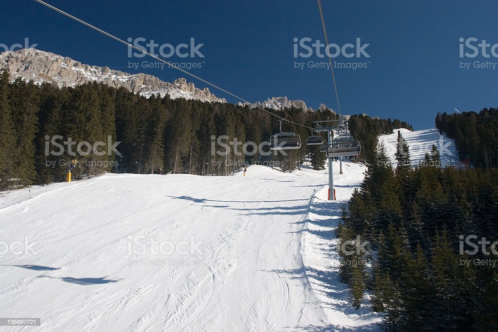 Great day for skiing royalty-free stock photo