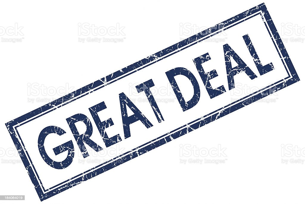 great deal square blue stamp royalty-free stock photo
