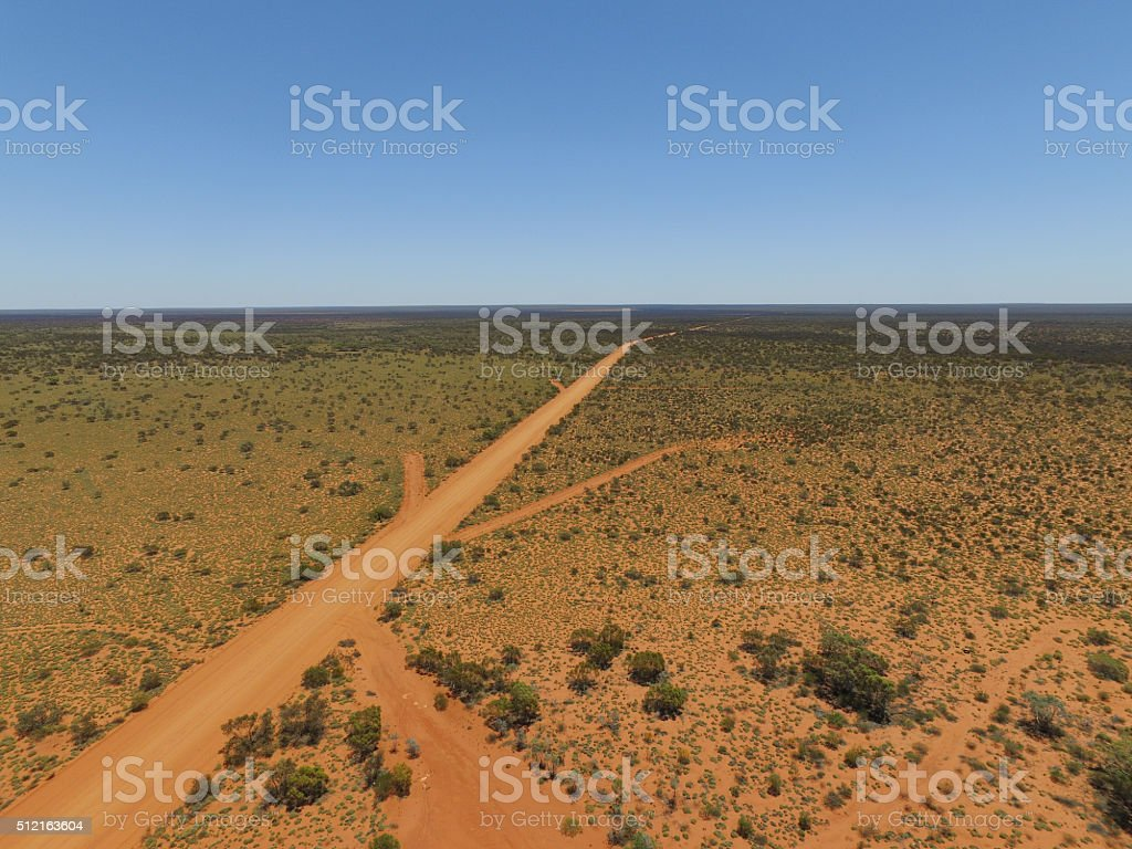Great Desert Rd stock photo