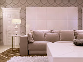 Great design white Cabinet in modern living room.