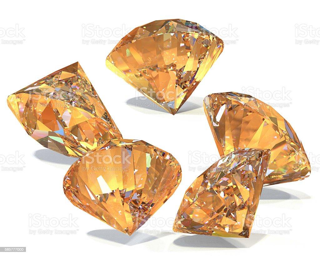 Great diamonds 3d rendering stock photo