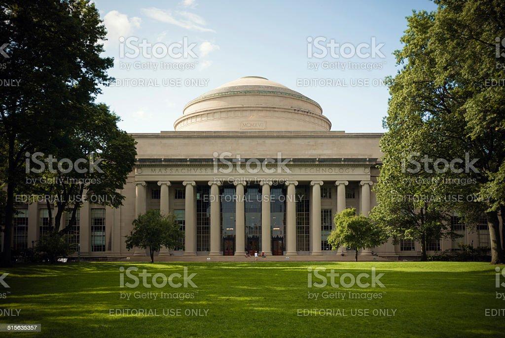 Great Dome overlooking Killian Court at Massachusetts Institute of Technology stock photo