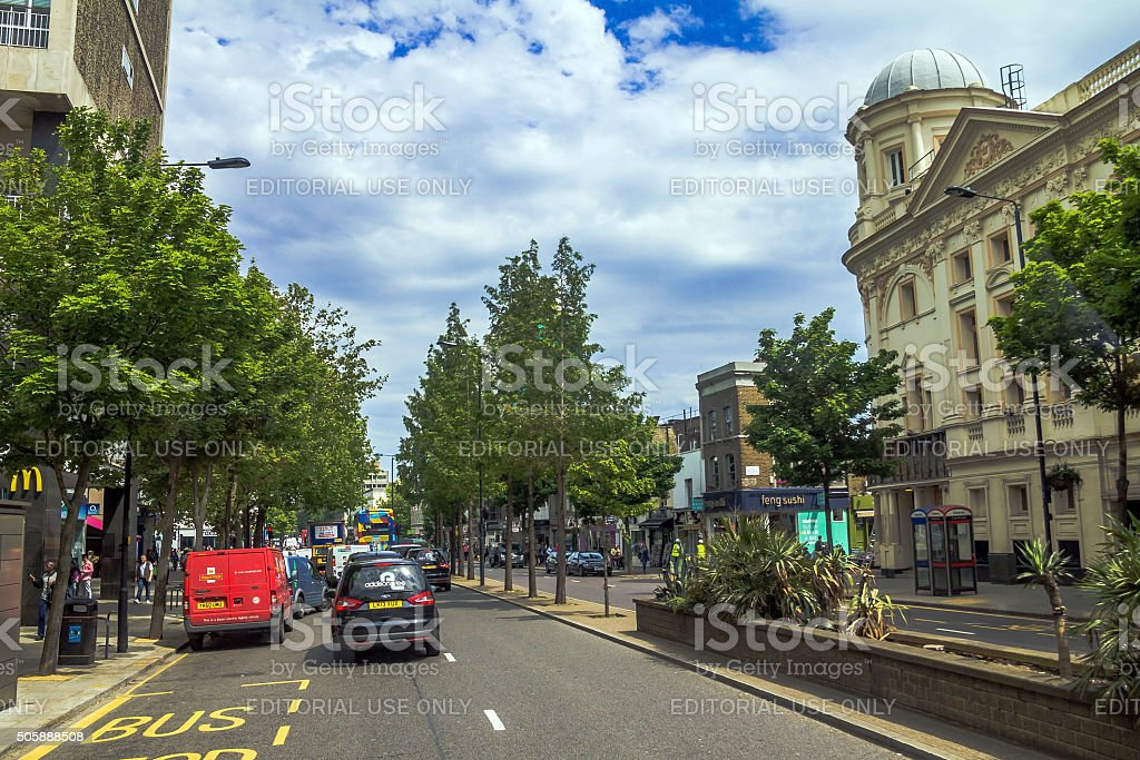 Great Eastern Street at the evening time. London stock photo
