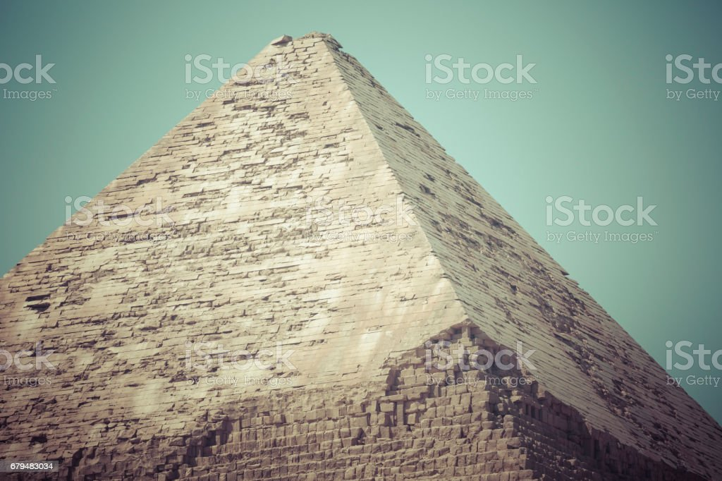 Great Egyptian pyramids in Giza, Cairo stock photo