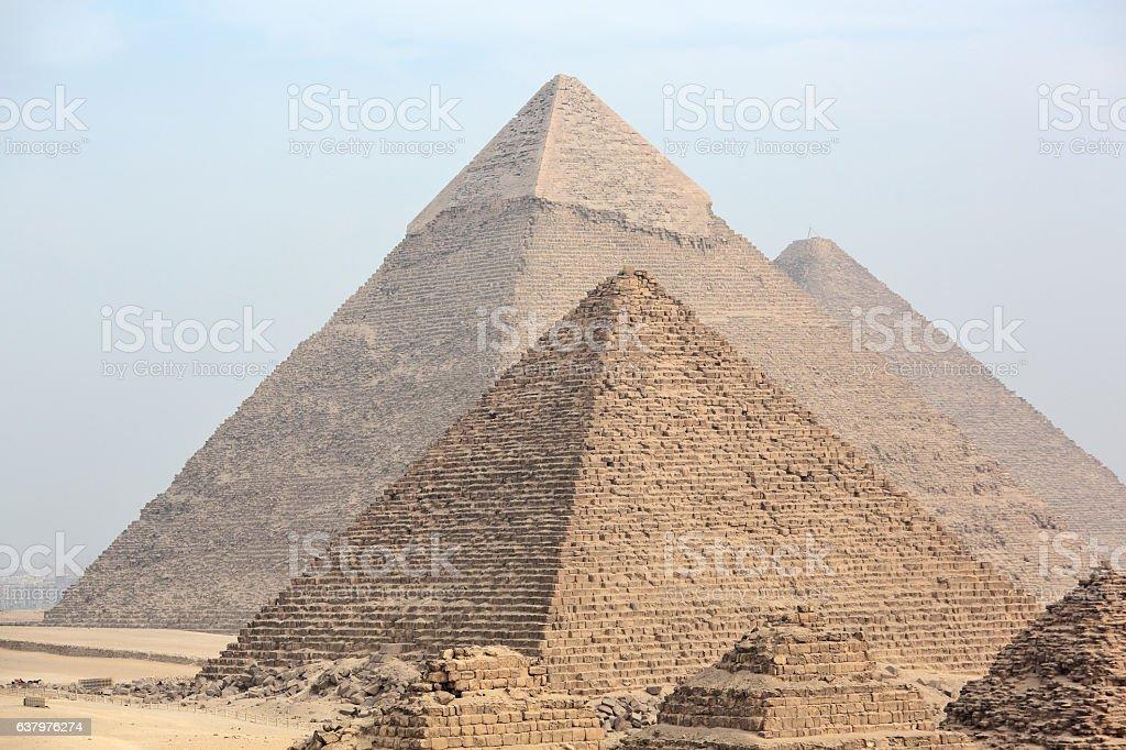Great Egyptian pyramids stock photo
