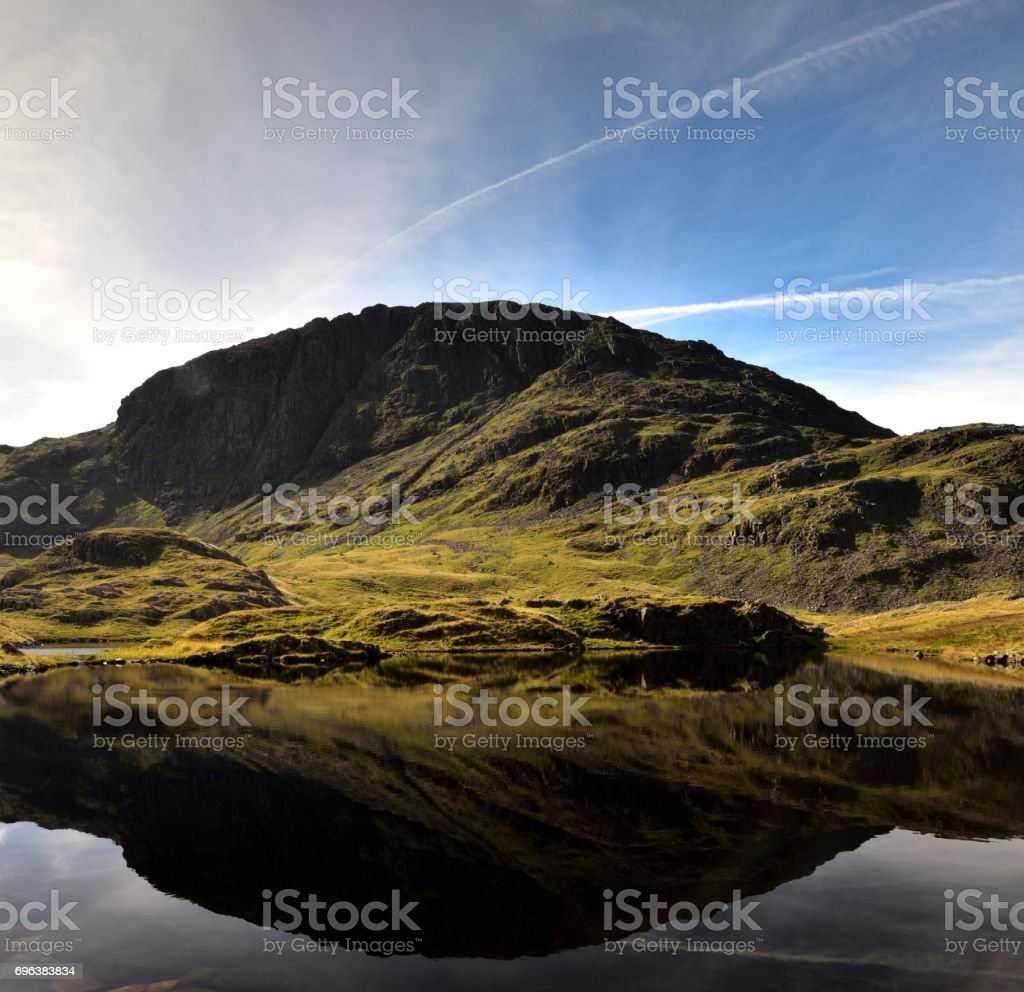 Great End and Sprinkling Tarn stock photo