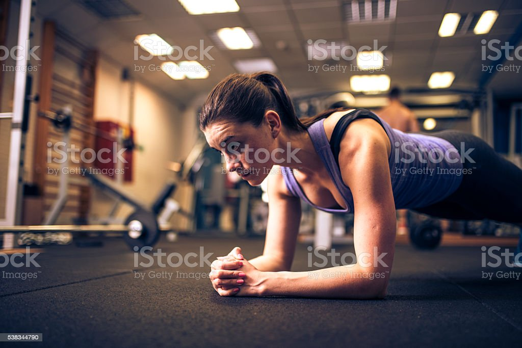 Great exercise for my core muscles stock photo