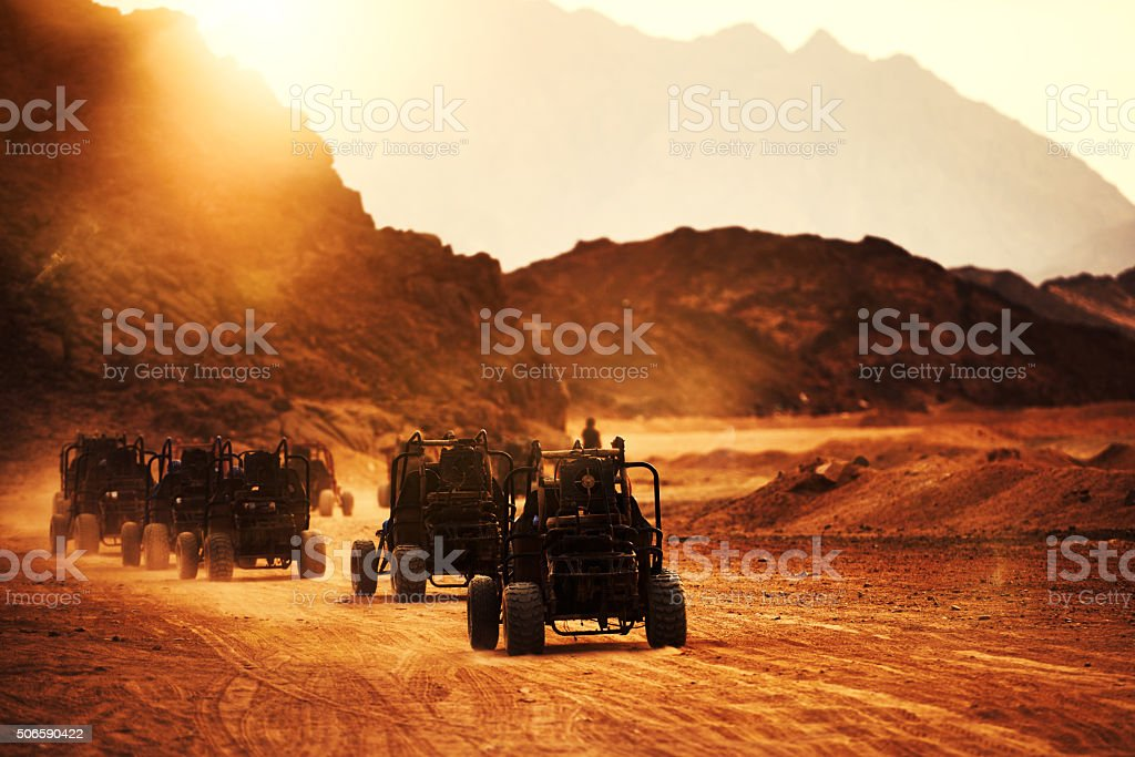great exploration and adventure in the desert stock photo