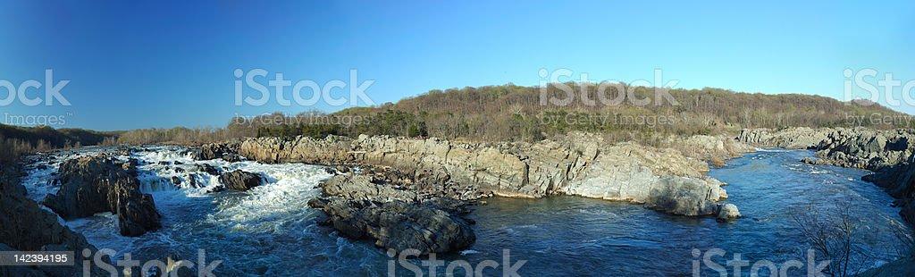 Great Falls at Dusk stock photo