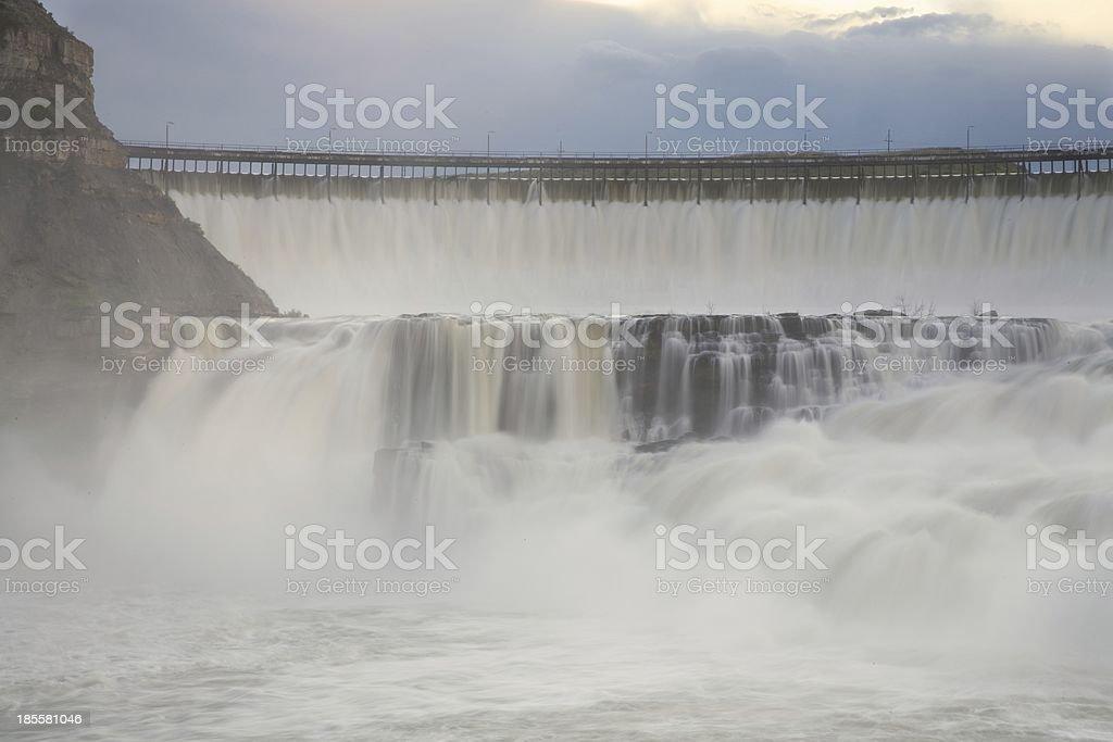 Great Falls Dam stock photo
