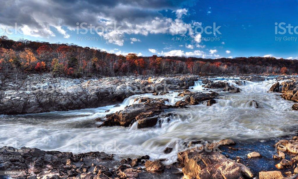 Great Falls Maryland Rapids and Waterfalls stock photo