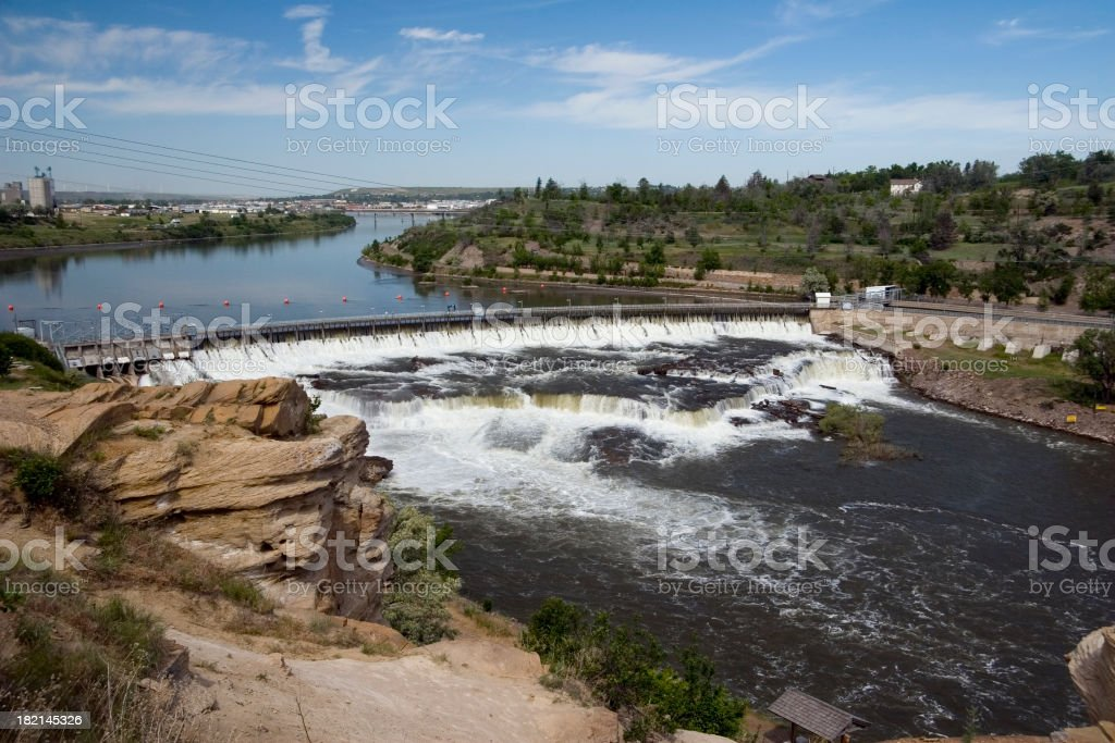 Great Falls, Montana royalty-free stock photo