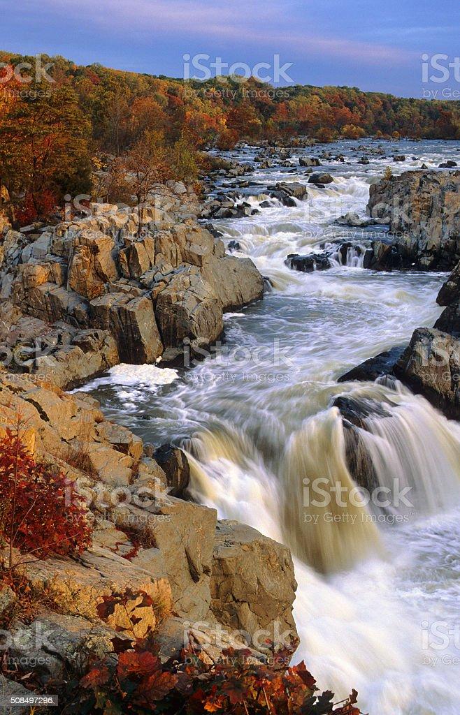 Great Falls of the Potomac, VA stock photo
