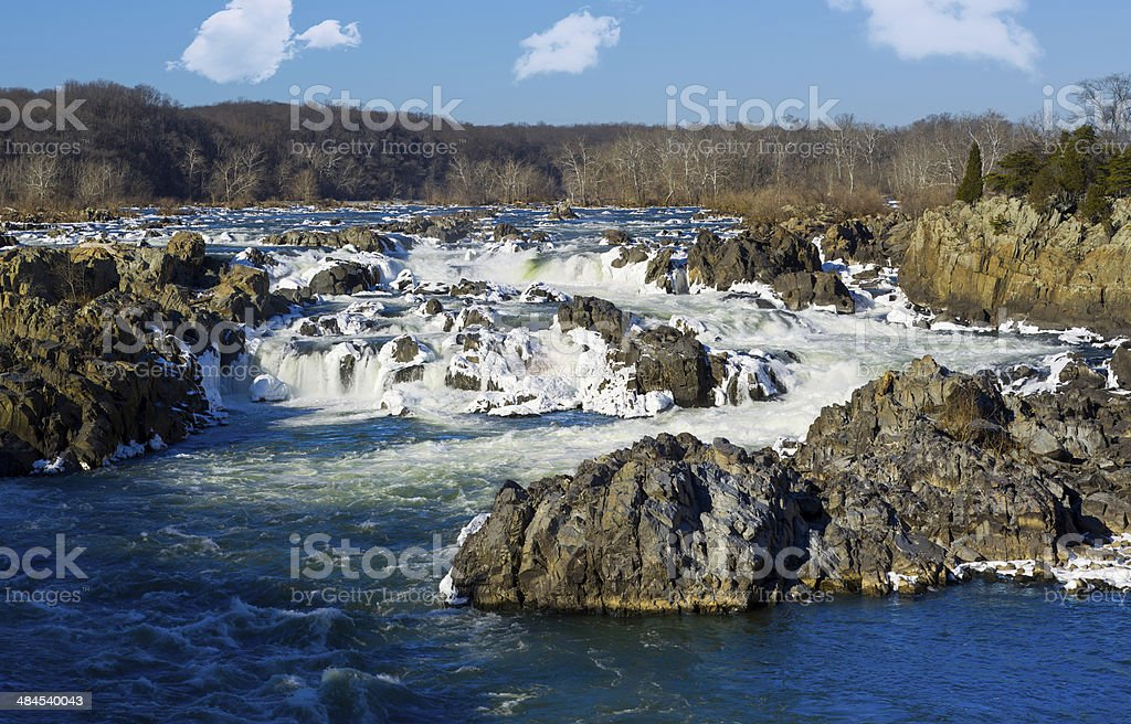 Great Falls on Potomac outside Washington DC stock photo