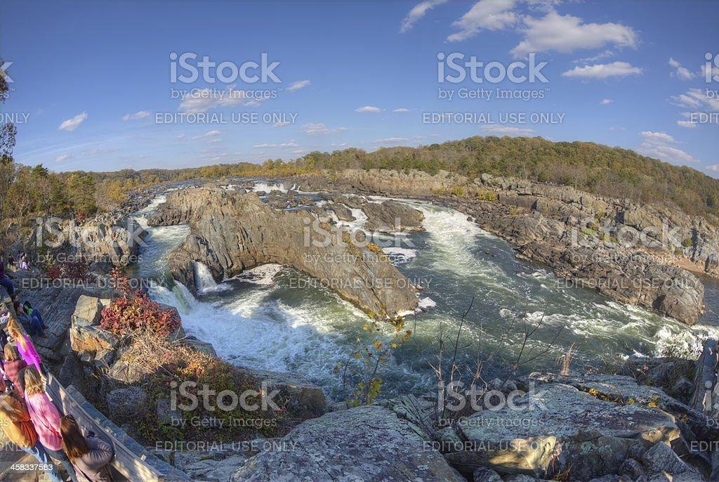Great Falls on Potomac River in Virginia near DC stock photo