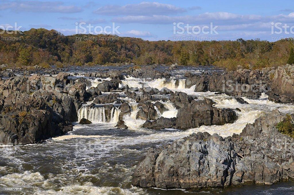 Great Falls on Potomac River in Virginia stock photo