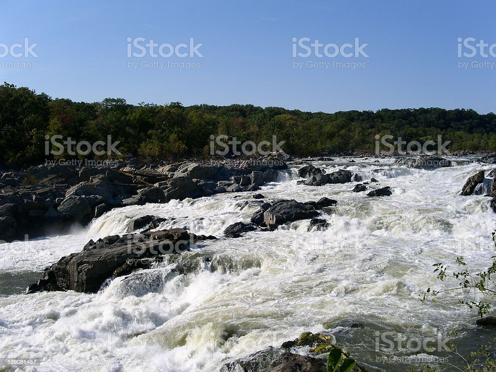 Great Falls on the Potomac royalty-free stock photo