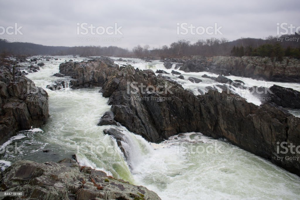 Great Falls Overcast stock photo
