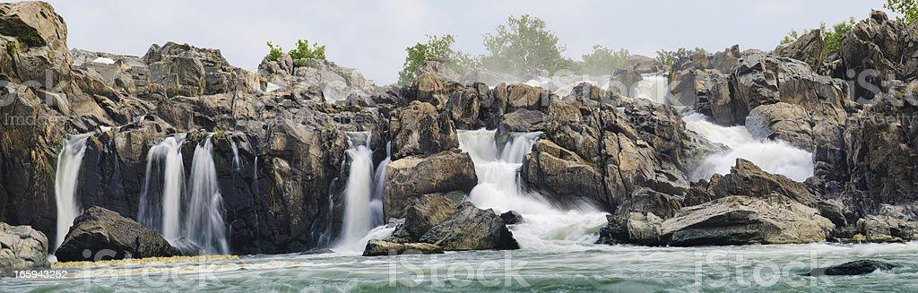 Great Falls Panoramic stock photo