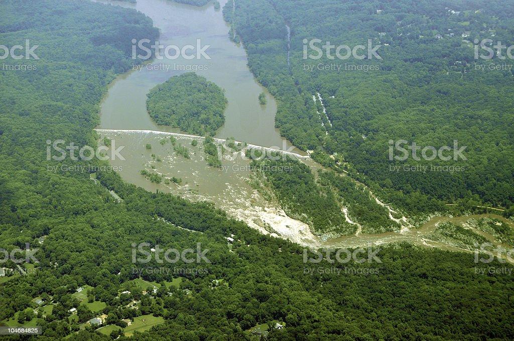 Great Falls, Potomac River stock photo