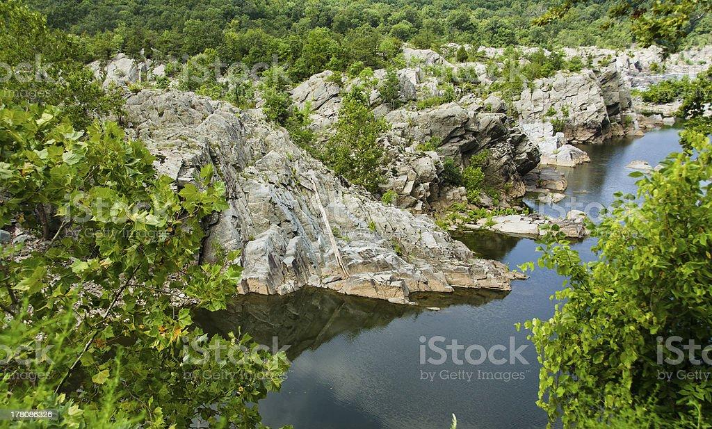 Great Falls Virginia stock photo