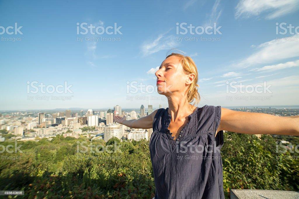 Great feelings in Montreal stock photo