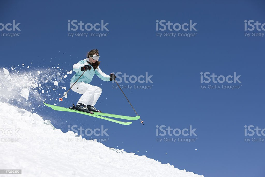 Great Female Skier royalty-free stock photo