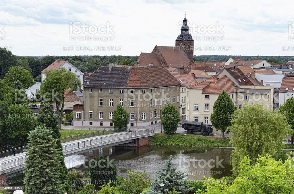 Great flood 2013 in Havelberg stock photo