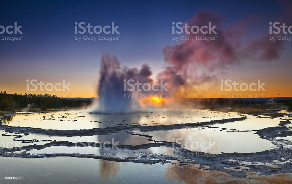 Great Fountain Geysir stock photo