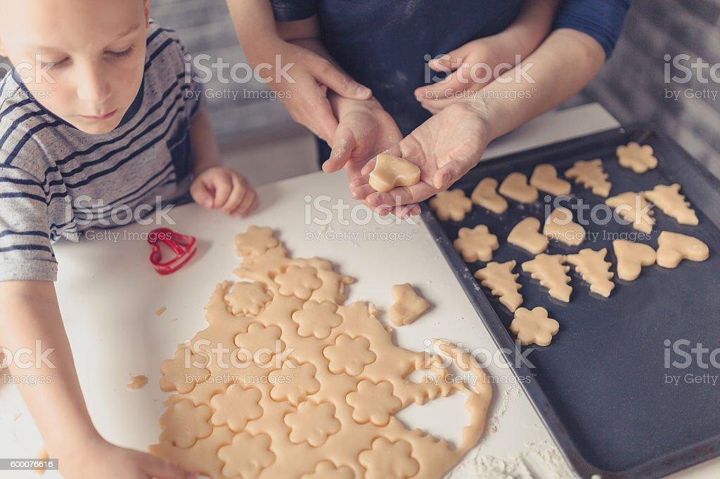 Great fun to make cookies stock photo