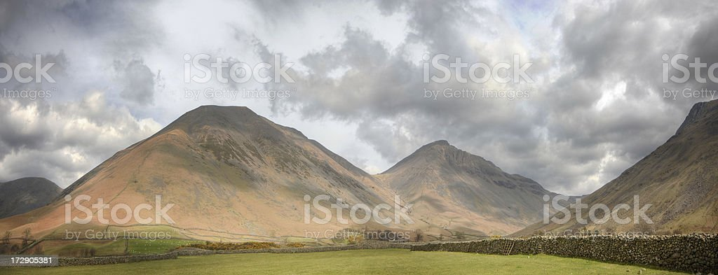 Great Gable and Kirk Fell royalty-free stock photo