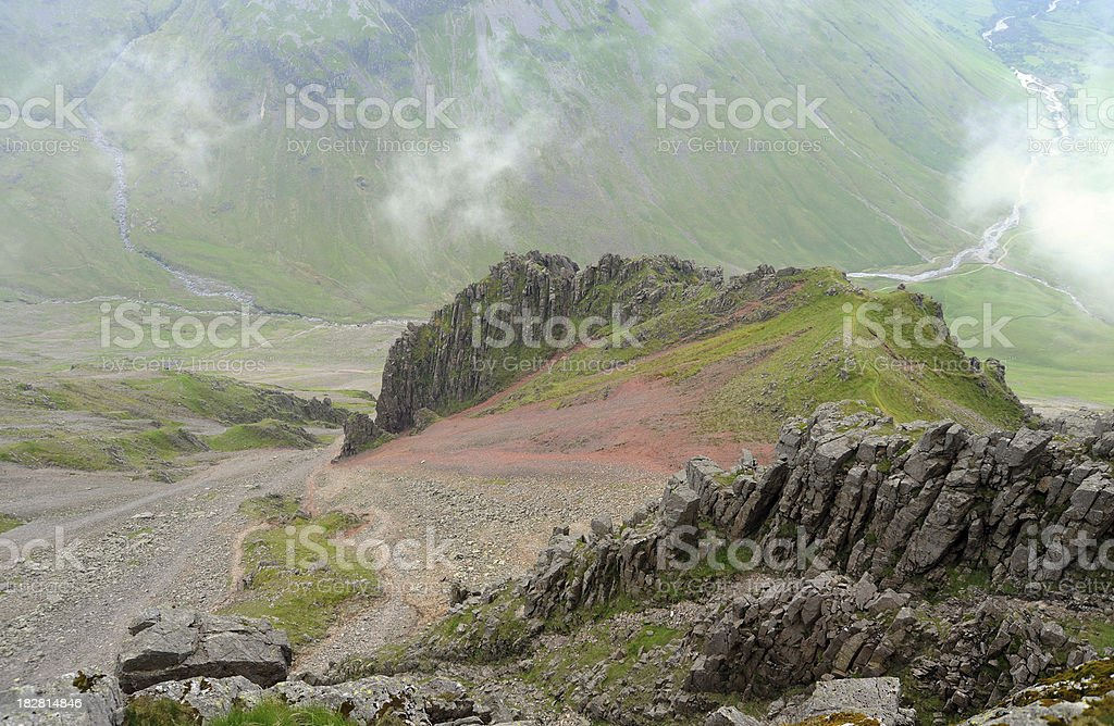 Great Gable and Wasdale Head stock photo