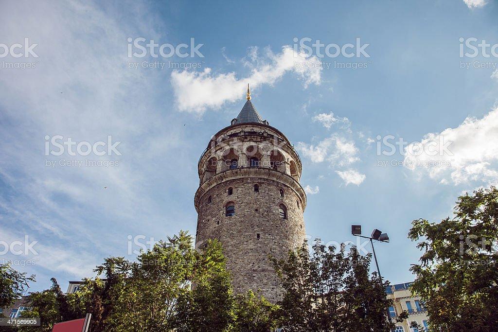Great Galata Tower stock photo