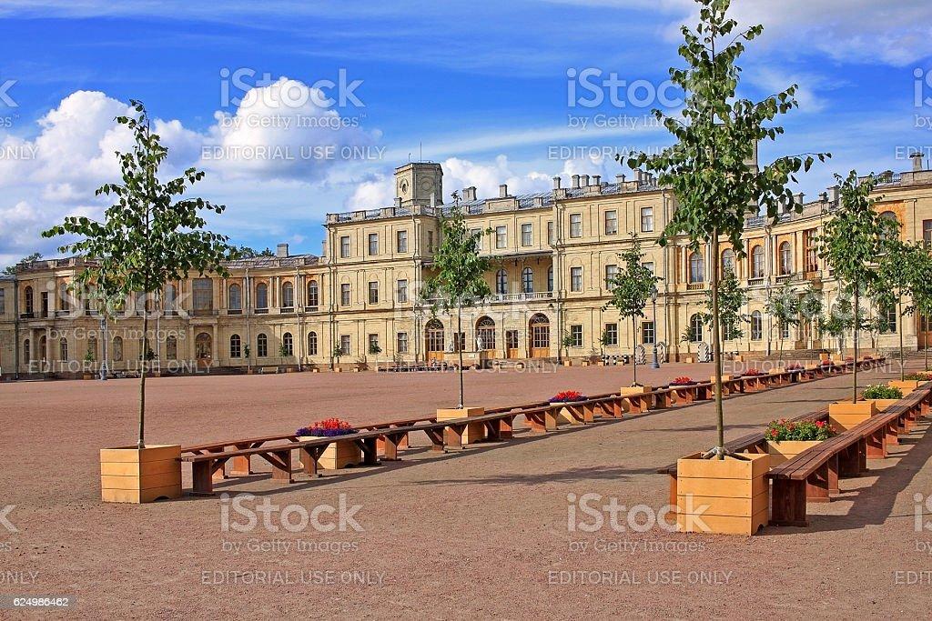 Great Gatchina Palace, Russia stock photo