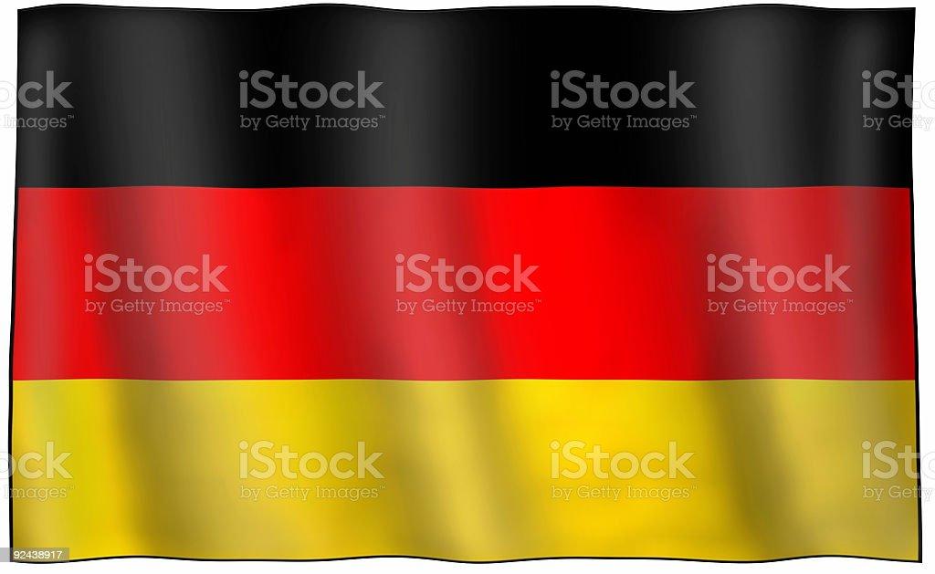 Great German Flag royalty-free stock photo