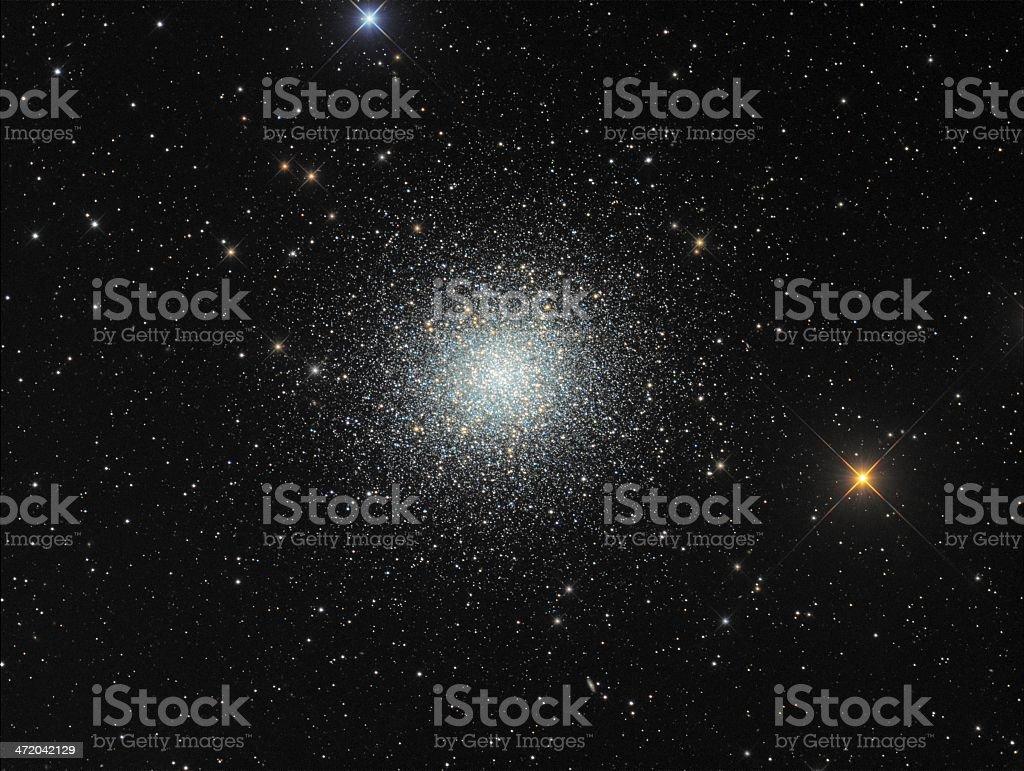 Great globular cluster in Hercules stock photo