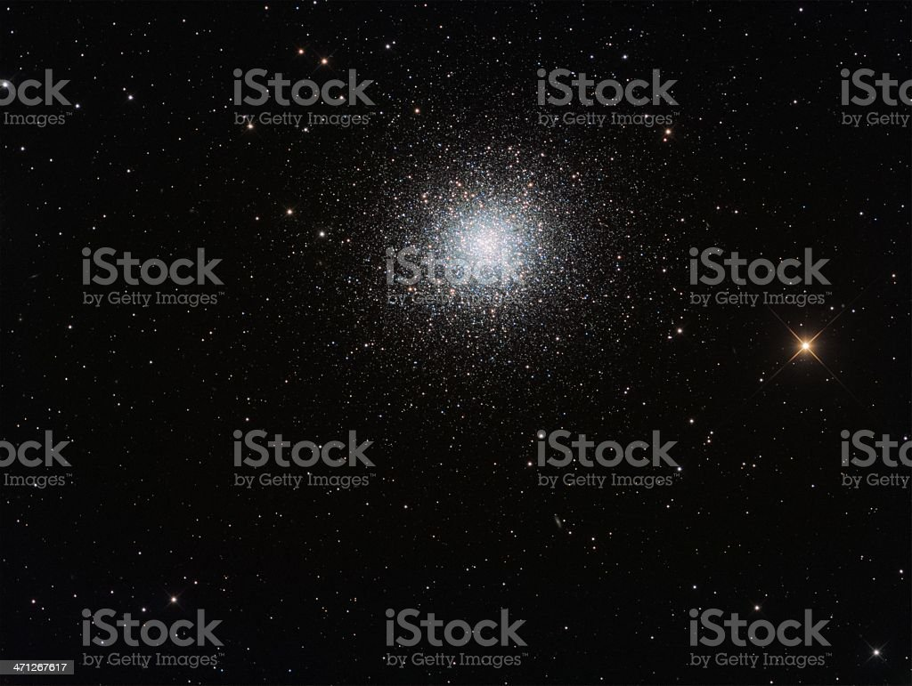 Great globular star cluster stock photo