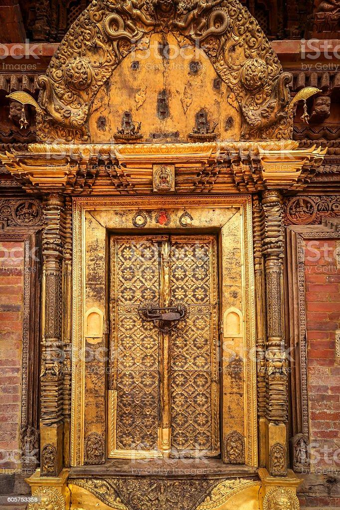 Great golden door, Nepal stock photo