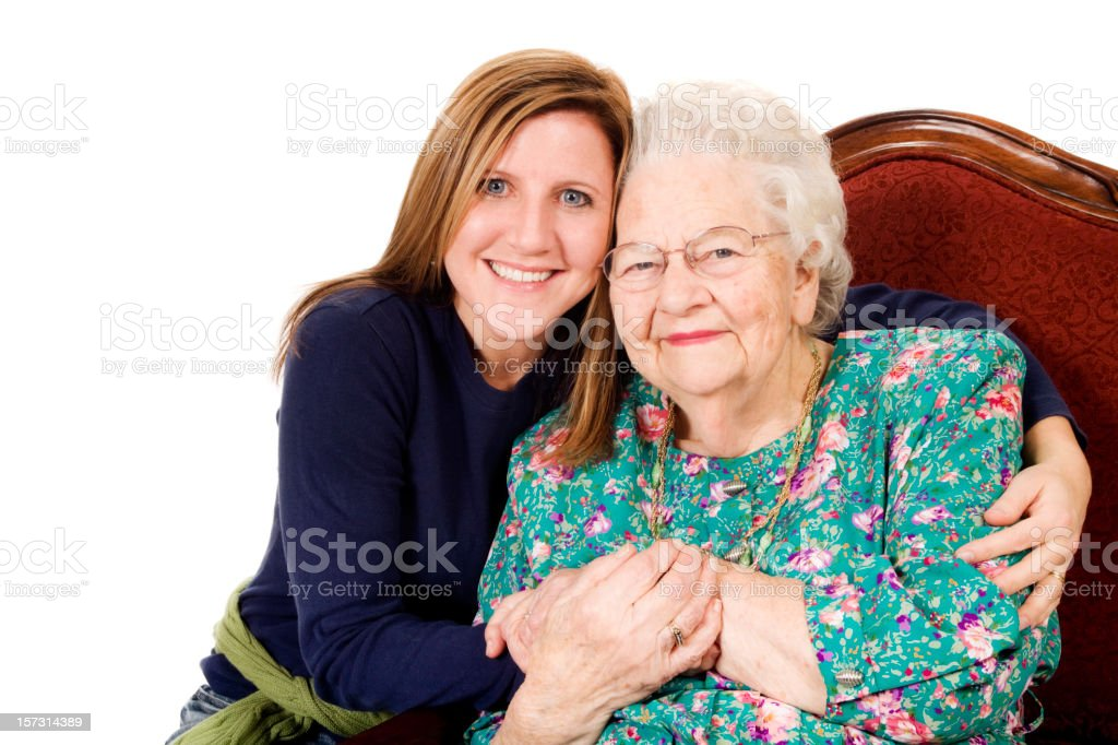 Great Grandma and her GrandDaughter   XXL royalty-free stock photo