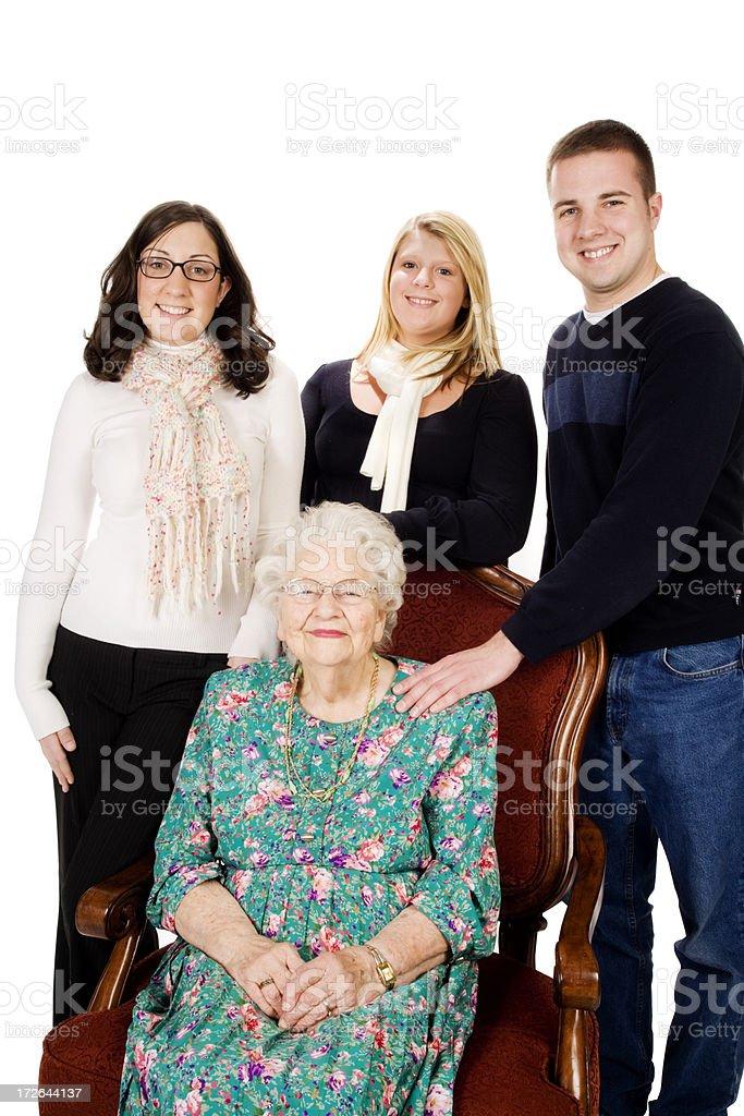 Great GrandMother and grandchildren  XXL royalty-free stock photo