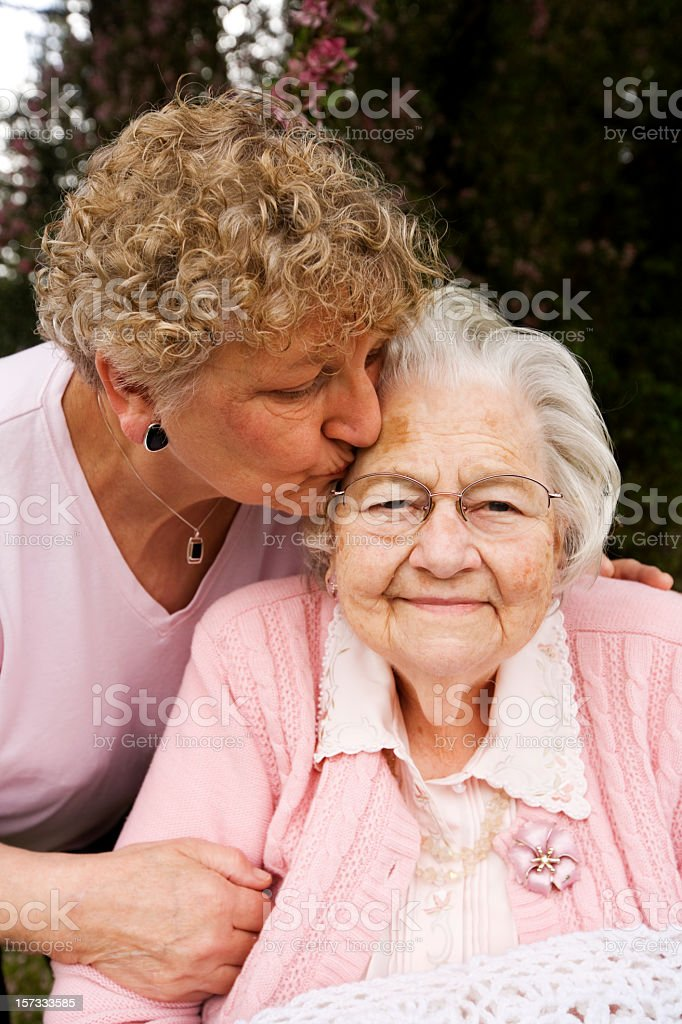 Great GrandMother and her Daughter stock photo