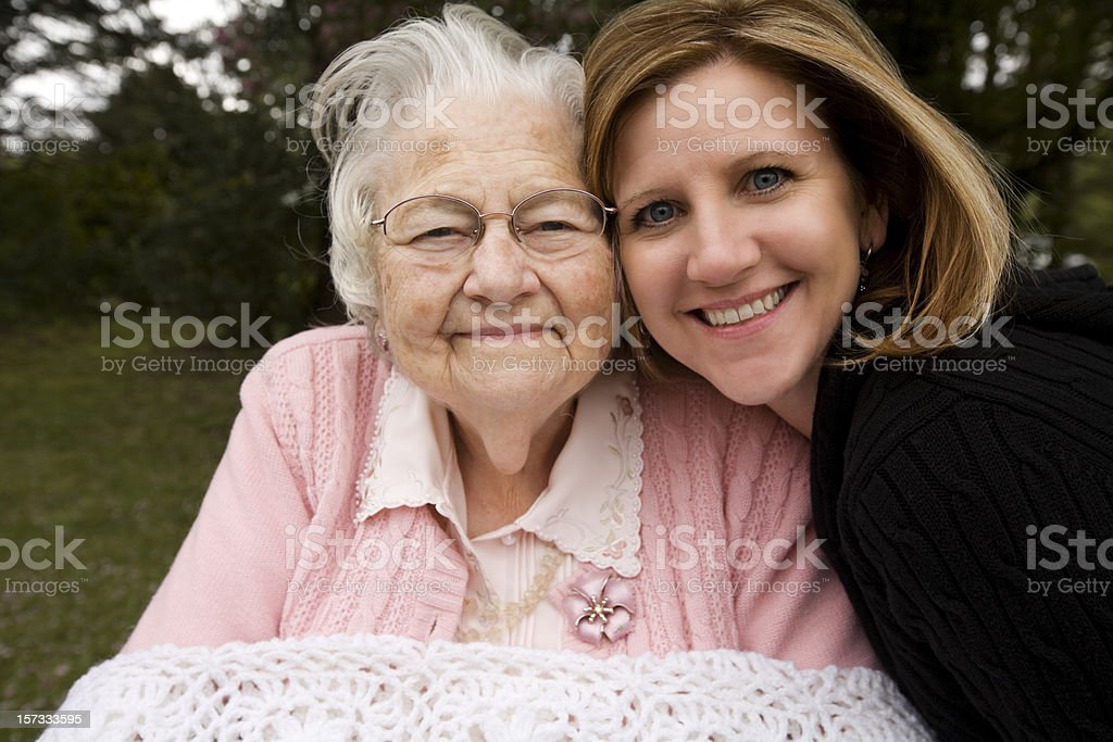 Great GrandMother and her GrandDaughter royalty-free stock photo