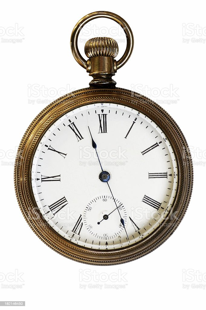 Great, Great, Grandfather's gold pocket watch royalty-free stock photo
