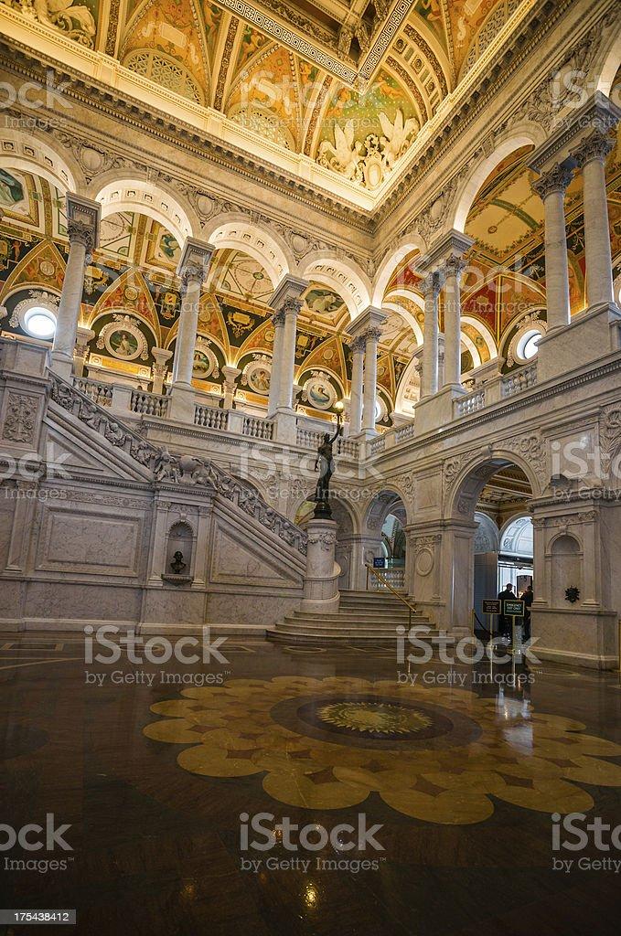 Great Hall Library of Congress, Washington, D.C. USA royalty-free stock photo