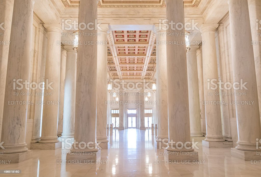 Great Hall of the Supreme Court of the United States stock photo