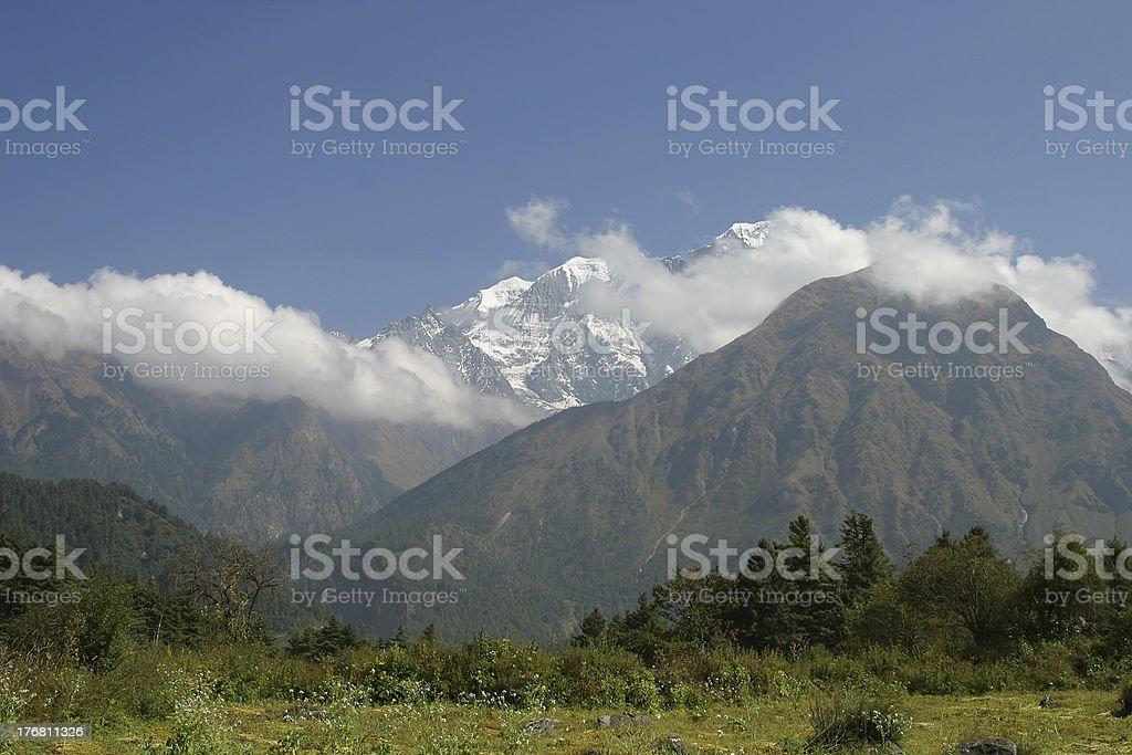 Great Himalayan View royalty-free stock photo