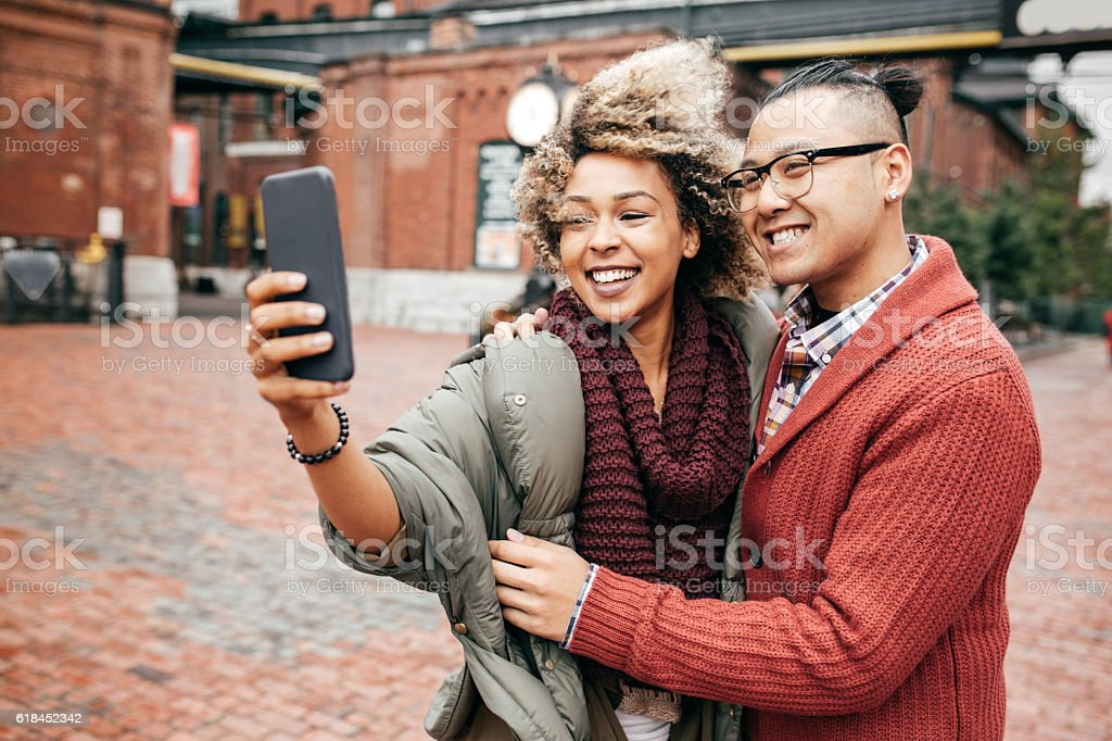 Great holidays together stock photo