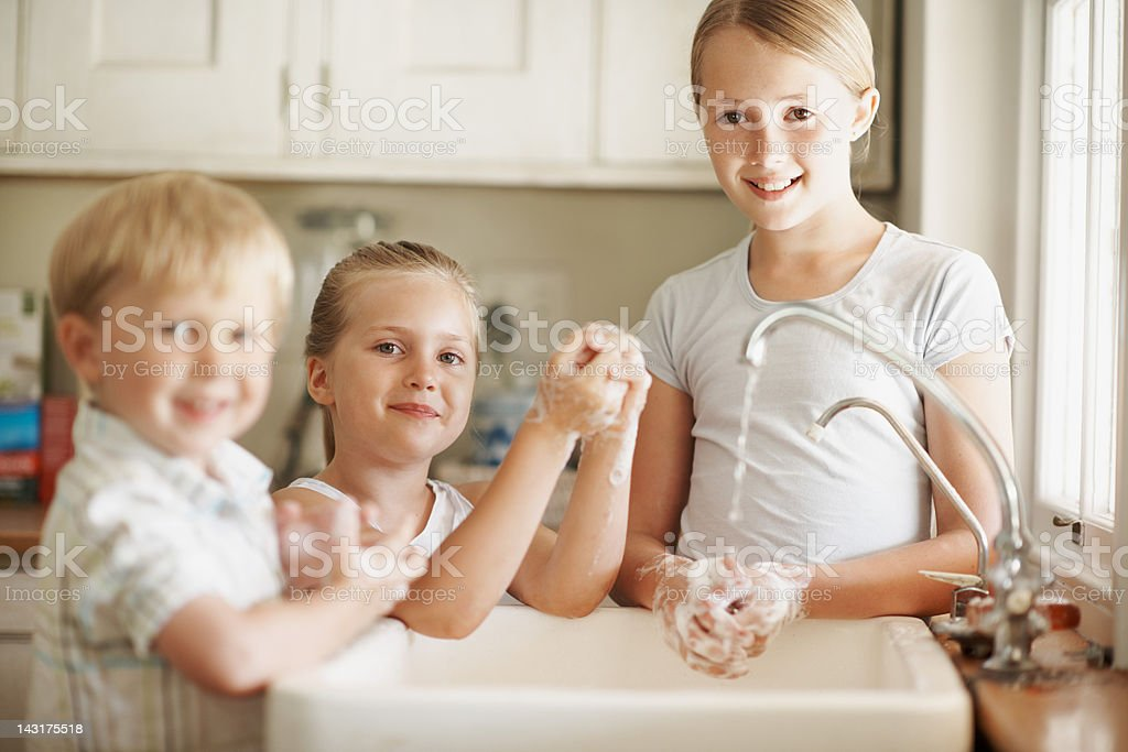 Great hygiene starts when you're young royalty-free stock photo