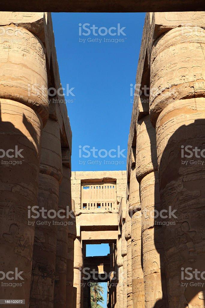 Great Hypostyle Hall, Karnak Temple, Luxor, Egypt. royalty-free stock photo